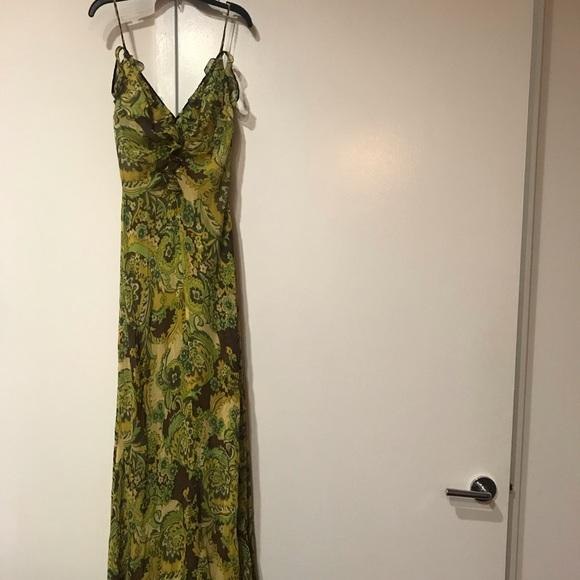 Kay Unger Dresses & Skirts - Paisley green vintage maxi dress